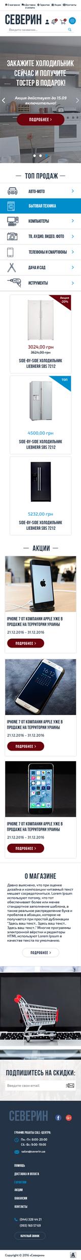 Интернет-магазин «Северин»